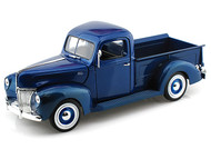 1940 Ford Pickup Truck Blue 1/18 Scale Diecast Model By Motor Max 73170