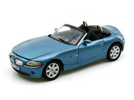 BMW Z4 Blue 1/18 Scale Diecast Car Model BY Motor Max 73144