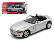 BMW Z4 Silver 1/18 Scale Diecast Car Model By Motor Max 73144