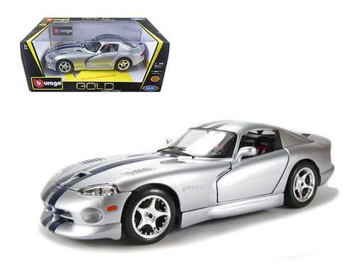 Dodge Viper GTS Coupe Silver 1/18 Scale Diecast Car Model By Bburago 12041