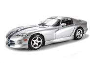 Bburago 1/18 Scale Dodge Viper GTS Coupe Silver Diecast Car Model 12041