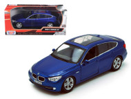 2010 BMW 5 Series GT Blue 1/24 Scale Diecast Car Model By Motor Max 73352