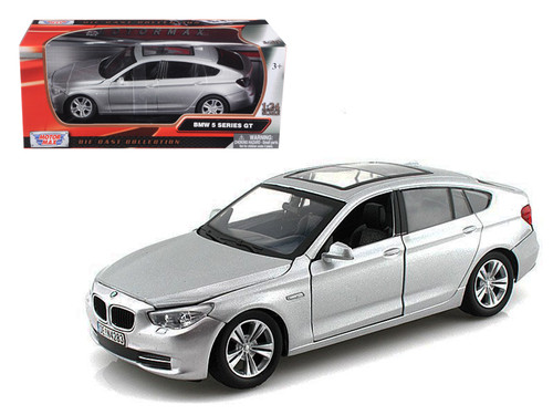 2010 BMW 5 Series GT Silver 1/24 Scale Diecast Car Model By Motor Max 73352