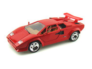 Lamborghini Countach 5000 Red 1/18 Scale Diecast Car Model By Bburago 12027
