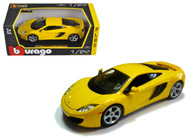 McLaren MP4-12C Yellow 1/24 Scale Diecast Car Model By Bburago 21074