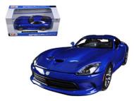 2013 Dodge SRT Viper GTS Blue 1/24 Scale Diecast Car Model By Maisto 31271