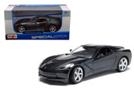 2014 C7 Chevy Corvette Stingray Grey 1/24 Scale Diecast Car Model By Maisto 31505