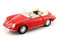 1961 Porsche 356B Cabriolet Red 1/18 Scale Diecast Car Model By Bburago 12025