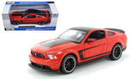 2012 Ford Mustang Boss 302 Red 1/24 Scale  Diecast Car Model By Maisto 31269