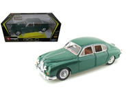 1959 Jaguar Mark II Green 1/18 Scale Diecast Car Model By Bburago 12009