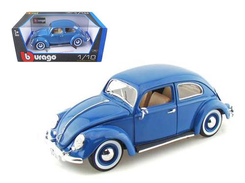 1955 VW Volkswagen Kafer Beetle Blue 1/18 Scale Diecast Car Model By Bburago 12029