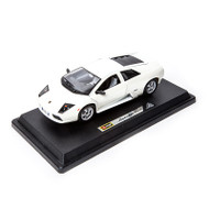 Lamborghini Murcielago White 1/24 Scale Diecast Car Model By Bburago 22054
