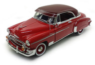 1950 Chevrolet Bel Air Hard Top Red 1/18 Scale Diecast Car Model By Motor Max 73111
