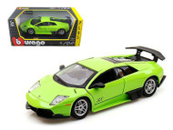 Lamborghini Murcielago LP670-4 SV Green 1/24 Scale Diecast Car Model By Bburago 21050