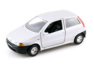 Fiat Punto Silver 1/24 Scale Diecast Car Model By Bburago 22088