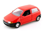 Bburago 1/24 Scale Fiat Punto Red Diecast Car Model 22088