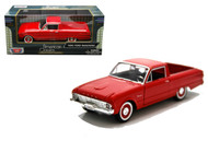 1960 Ford Ranchero Red 1/24 Scale Diecast Car Model By Motor Max 79321