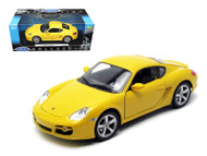 1996 Porsche Cayman S Yellow 1/18 Scale Diecast Car Model By Welly 18008