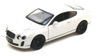 Bentley Continental SuperSports White 1/24 Scale Diecast Car Model By Welly 24018