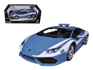 Lamborghini Huracan LP 610-4 Polizia 1/18 Scale Diecast Car Model By Bburago 11041