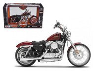 2012 Harley Davidson XL 1200V Seventy Two 72 Motorcycle 1/12 Scale By Maisto 32324