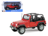 Jeep Wrangler Rubicon Red 1/18 Scale Diecast Model By Maisto 31663