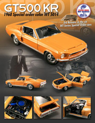 ACME GMP 1/18 Scale 1968 Ford Shelby Mustang GT 500 KR GT500KR WT 5014 Series #3 Orange Diecast Car Model A1801807