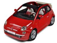 Fiat 500C Cabriolet Red 1/24 Scale Diecast Car Model By Bburago 22117