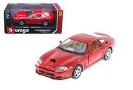 Ferrari 550 Maranello Red 1/24 Scale Diecast Car Model By Bburago 26004