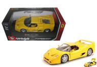 Ferrari F50 Yellow 1/24 Scale Diecast Car Model By Bburago 26010