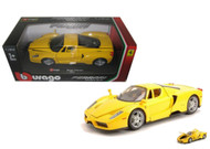 Ferrari Enzo Yellow 1/24 Scale Diecast Car Model By Bburago 26006