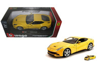 Ferrari F12 Berlinetta Yellow 1/24 Scale Diecast Car Model By Bburago 26007