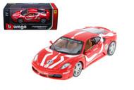 Ferrari F430 Fiorano #27 Red 1/24 Scale Diecast Car Model By Bburago 26009