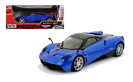 Pagani Huayra Blue 1/18 Scale Diecast Car Model By Motor Max 79160