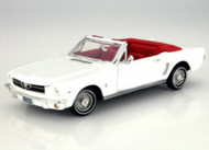 1964 1/2 Ford Mustang White Convertible 1/18 Scale Diecast Car Model By Motormax Platinum 77145