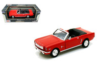 1964 1/2 Ford Mustang Convertible Red 1/24 Scale Diecast Car Model By Motor Max 73212