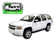 Welly 1/24 Scale 2008 Chevy Tahoe SUV Street Version White Diecast Car Model 22509