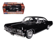 1965 Chevy Impala SS 396 Black Low Rider 1/24 Scale Diecast Car Model By Welly 22417
