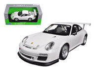Porsche 911 GT3 Cup White 1/18 Scale Diecast Car Model By Welly 18033