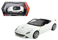 Ferrari California T Open Top White 1/18 Scale Diecast Car Model By Bburago 16007