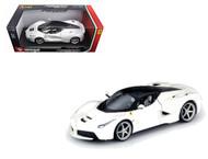 Ferrari LaFerrari F70 White 1/18 Scale Diecast Car Model By Bburago 16001