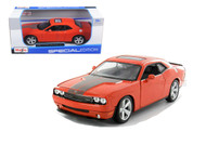 2008 Dodge Challenger SRT8 Orange 1/24 Scale Diecast Car Model By Maisto 31280