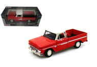 1966 Chevy C-10 Fleetside Pickup Truck Red 1/24 Scale Diecast Model By Motor Max 73355