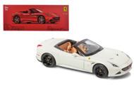 Ferrari California T Open Top White Signature Series 1/18 Scale Diecast Car Model By Bburago 16904