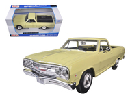1965 Chevrolet El Camino Yellow 1/25 Scale Diecast Car Model By Maisto 31977