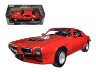 1973 Pontiac Firebird Trans AM T/A Red 1/24 Scale Diecast Car Model By Motor Max 73243