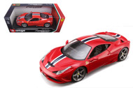 Ferrari 458 Speciale Red 1/18 Scale Diecast Car Model By Bburago 16002