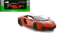Lamborghini AventadorLP700-4 Orange 1/18 Scale Diecast Car Model By Welly 18041