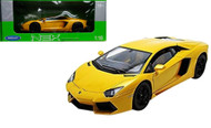 Lamborghini Aventador LP700-4 Yellow 1/18 Scale Diecast Car Model By Welly 18041