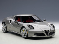 Alfa Romeo 4C Metallic Grey Composite 1/18 Scale Diecast Car Model By AUTOart 70187